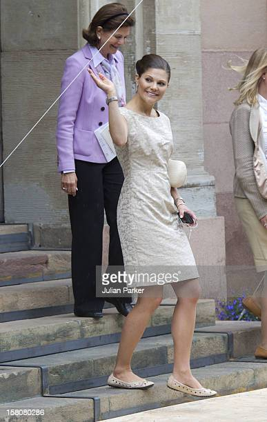 Crown Princess Victoria Of Sweden At Storkyrkan For Rehearsals Before The Wedding Of Crown Princess Victoria Of Sweden And Daniel Westling Which...
