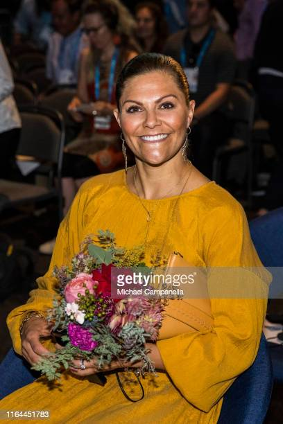 Crown Princess Victoria of Sweden at the World Water Week conference attending a symposium in connection with the Stockholm Water Prize at Tele2...