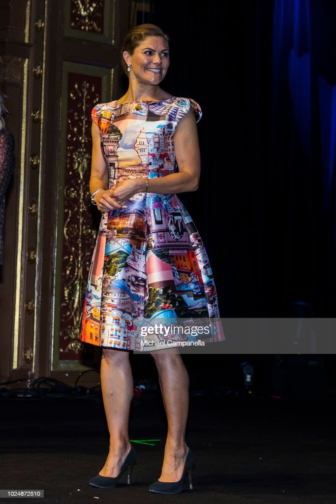 Crown Princess Victoria Attends The Junior Water Prize 2018 : News Photo