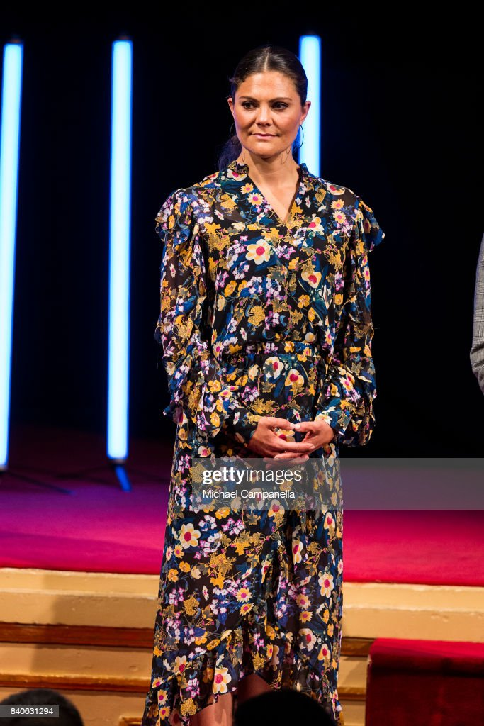 Crown Princess Victoria Attends The Junior Water Prize 2017 : News Photo