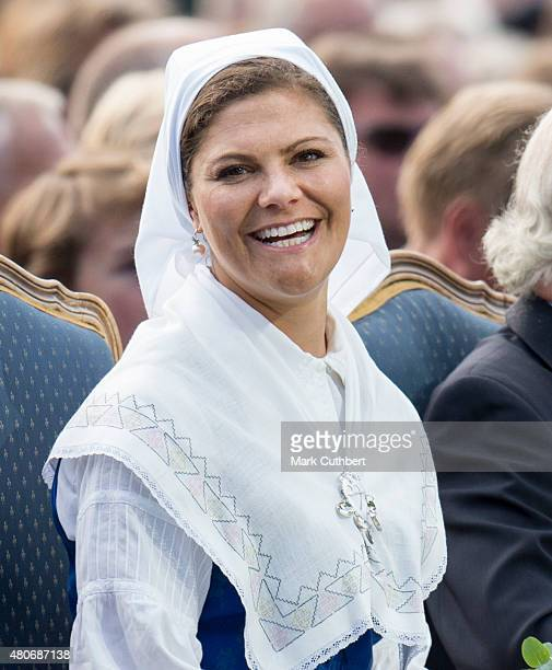 Crown Princess Victoria of Sweden attends a concert at her 38th birthday celebrations on July 14 2015 in Oland Sweden