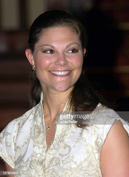Crown Princess Victoria Of Sweden Attends A Dinner At Government House, Sydney, With The Governor Of New South Wales He Marie Bashir - During Her...