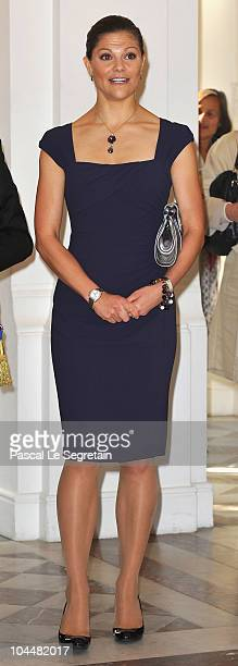 Crown Princess Victoria of Sweden attends a reception at the Sceaux Town hall on September 27 2010 in Sceaux France