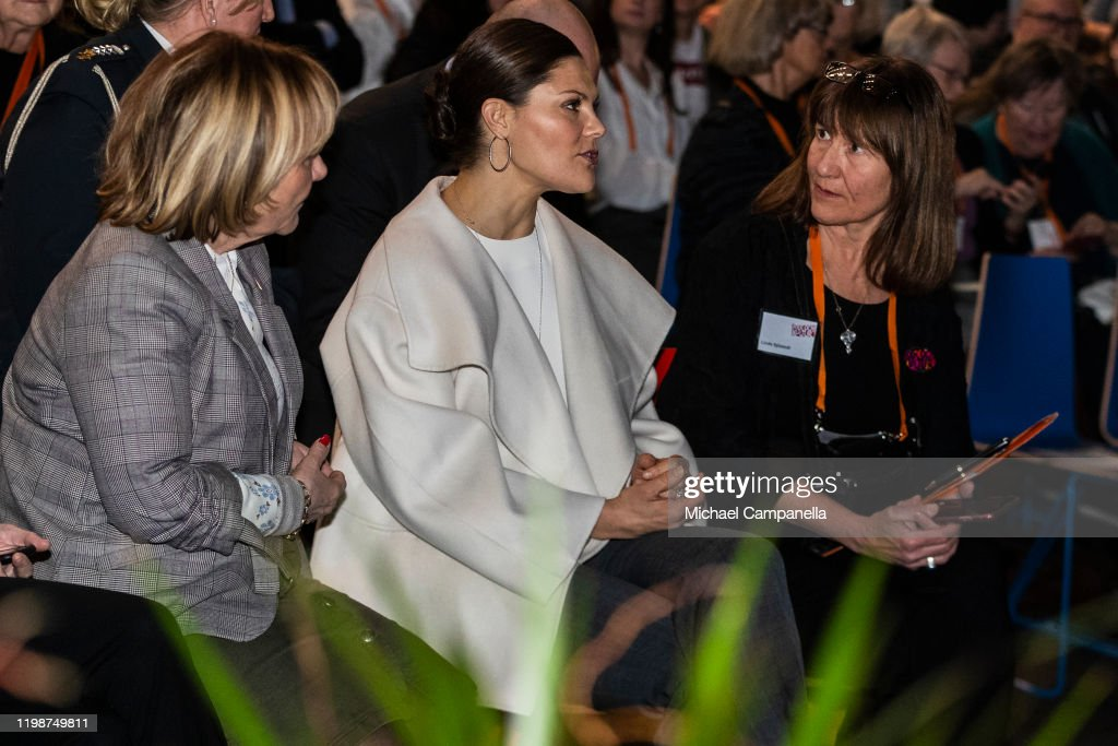Crown Princess Victoria Of Sweden Attends Folk and Culture 2020 : News Photo