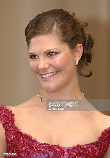 Crown Princess Victoria Of Sweden Attends A 'Stylish Gala Dinner' At The Sydney Town Hall - During Her Visit Taking Part In 'Swedish Style In...