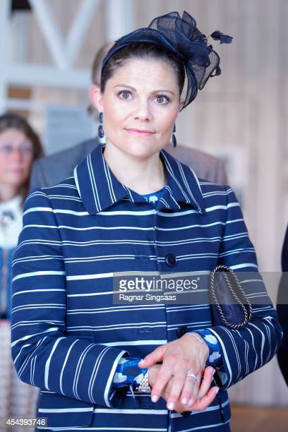 Crown Princess Victoria of Sweden attends Celebrations To Mark the 1000th Anniversary of Skara Diocese on August 30 2014 in Skara Sweden