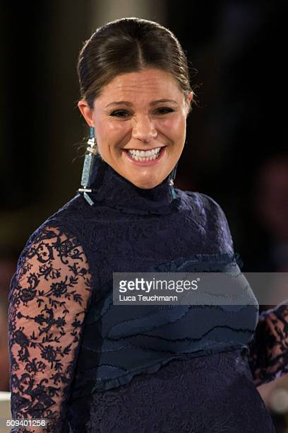Crown Princess Victoria of Sweden attends Global Change Award 2016 at the Stockholm city hall on February 10 2016 in Stockholm Sweden