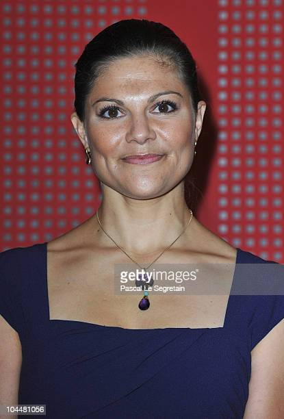 Crown Princess Victoria of Sweden attends reception at Sceaux Town hall on September 27 2010 in Paris France