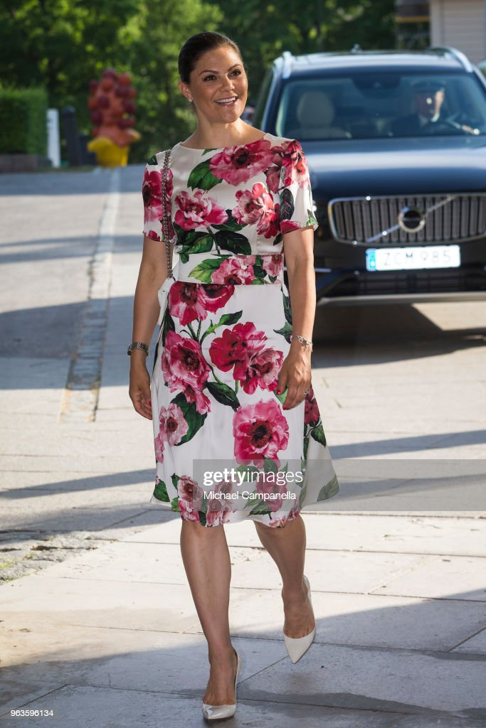 Crown Princess Victoria of Sweden Attends  The Annual Meeting Of The Friends of the National Museum : News Photo