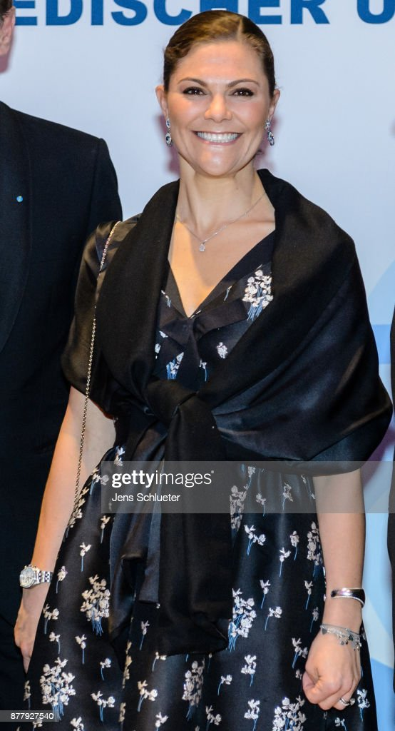Crown Princess Victoria of Sweden attends the ceremony of the Swedish Business Prize 2017 on November 23, 2017 in Leipzig, Germany.