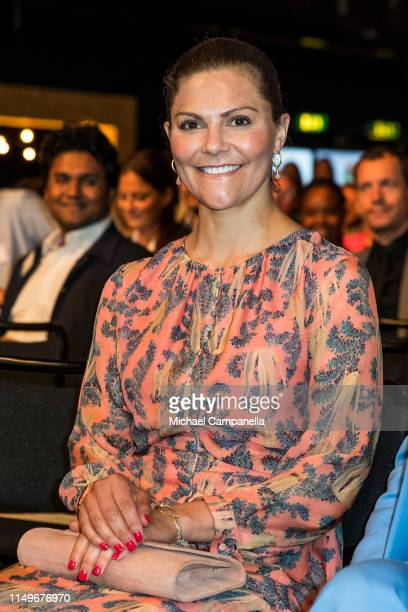 Crown Princess Victoria of Sweden attends the EAT Stockholm Food Forum at Annexet on June 13 2019 in Stockholm Sweden