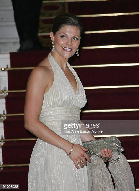 Crown Princess Victoria of Sweden attends the Eortc Gala Charity Dinner at Opera Garnier Monte Carlo Casino on October 9 2009 in MonteCarlo Monaco