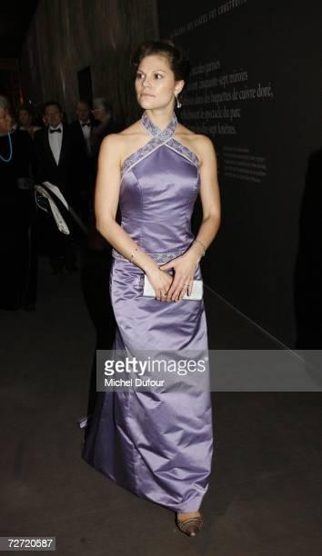 Crown Princess Victoria of Sweden attends the Fondation Pour L'Enfance Ball at the Palais de Versailles on December 4in Versailles France