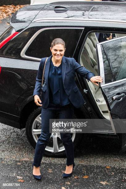 Crown Princess Victoria of Sweden attends 'The Global Ocean and the Future of Humanity' seminar at the Royal Swedish Academy of Sciences on November...