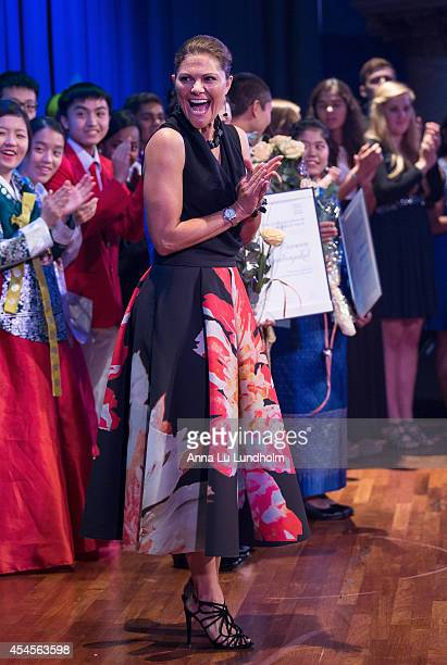 Crown Princess Victoria of Sweden attends the Junior Water Prize Ceremony at Grand Hotel on September 3 2014 in Stockholm Sweden