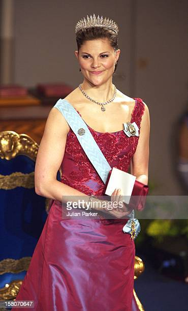 Crown Princess Victoria Of Sweden Attends The Nobel Prize Award Ceremony At The Stockholm Concert Hall