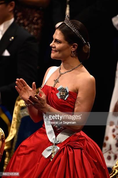 Crown Princess Victoria of Sweden attends the Nobel Prize Awards Ceremony at Concert Hall on December 10 2014 in Stockholm Sweden