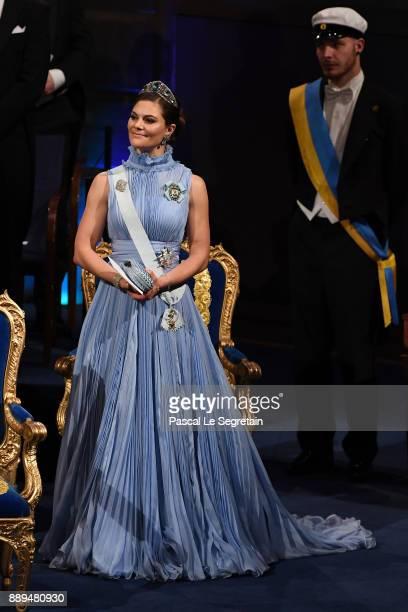 Crown Princess Victoria of Sweden attends the Nobel Prize Awards Ceremony at Concert Hall on December 10 2017 in Stockholm Sweden