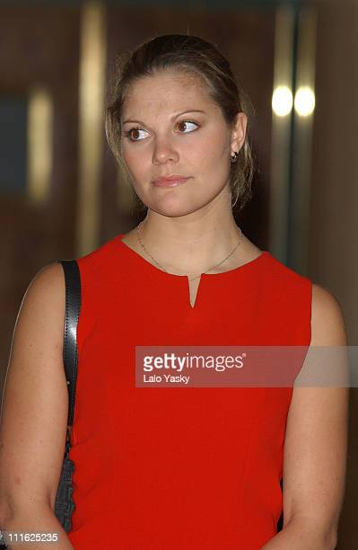 Crown Princess Victoria of Sweden Attends the Opening of the Expo 'Images of Sweden' During the Sweden Week in Madrid