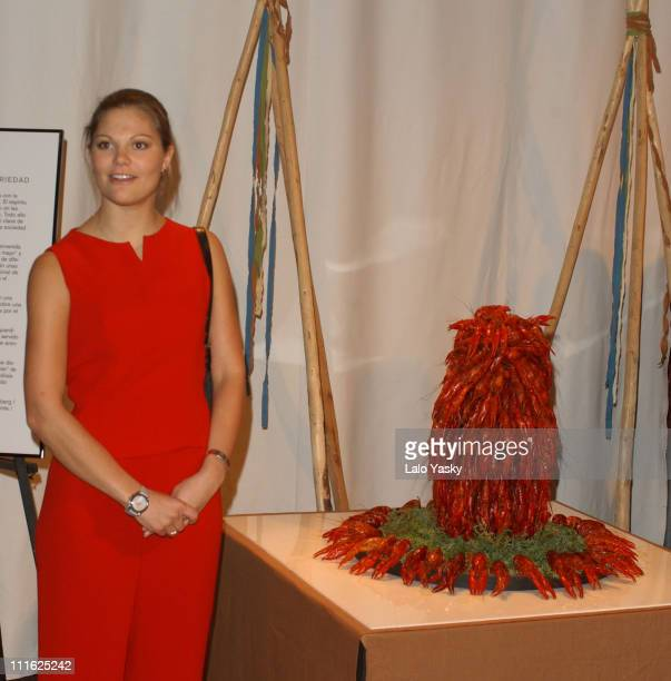 Crown Princess Victoria of Sweden Attends the Opening of the Expo Images of Sweden During the Sweden Week in Madrid