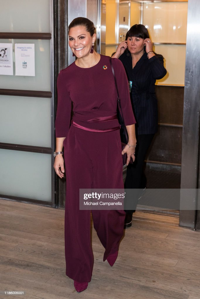 """Crown Princess Victoria Of Sweden Attends The Seminar """"Do We Have Room For Plastic In A Sustainable Future?"""" : News Photo"""