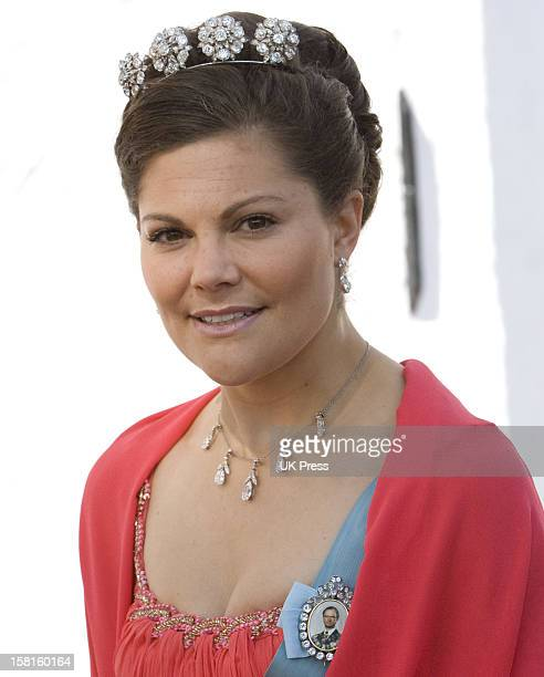 Crown Princess Victoria Of Sweden Attends The Wedding Of Prince Joachim Of Denmark And Miss Marie Cavallier At Mogeltonder Church In Mogeltonder,...