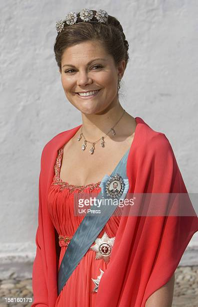Crown Princess Victoria Of Sweden Attends The Wedding Of Prince Joachim Of Denmark And Miss Marie Cavallier At Mogeltonder Church In Mogeltonder...