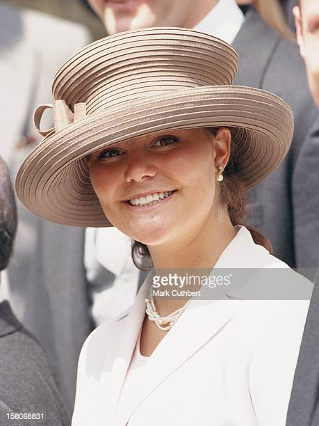 Crown Princess Victoria Of Sweden Attends The Wedding Of Princess Alexia Of Greece And Carlos Morales Quintana At The St. Sophia Cathedral In London....