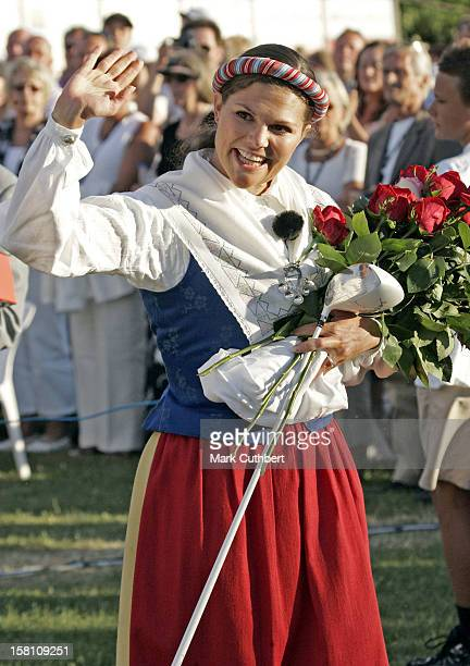 Crown Princess Victoria Of Sweden Celebrates Her 28Th Birthday With A Concert In Bergholm Accompanied By King Carl Gustav Queen Silvia Prince Carl...