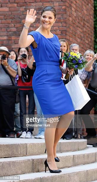 Crown Princess Victoria of Sweden celebrates Sweden's National Day at the City Hall of Stockholm on June 6 2011 in Stockholm Sweden