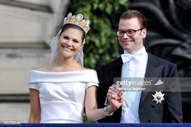 Crown Princess Victoria of Sweden, Duchess of Västergötland, and her husband Prince Daniel, Duke of Västergötland, meet the general public as they...