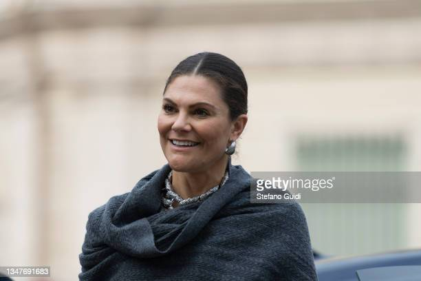 Crown Princess Victoria of Sweden during a visit at Unione Industriale in Turin to promote bilateral relations in the fields of trade and investment...