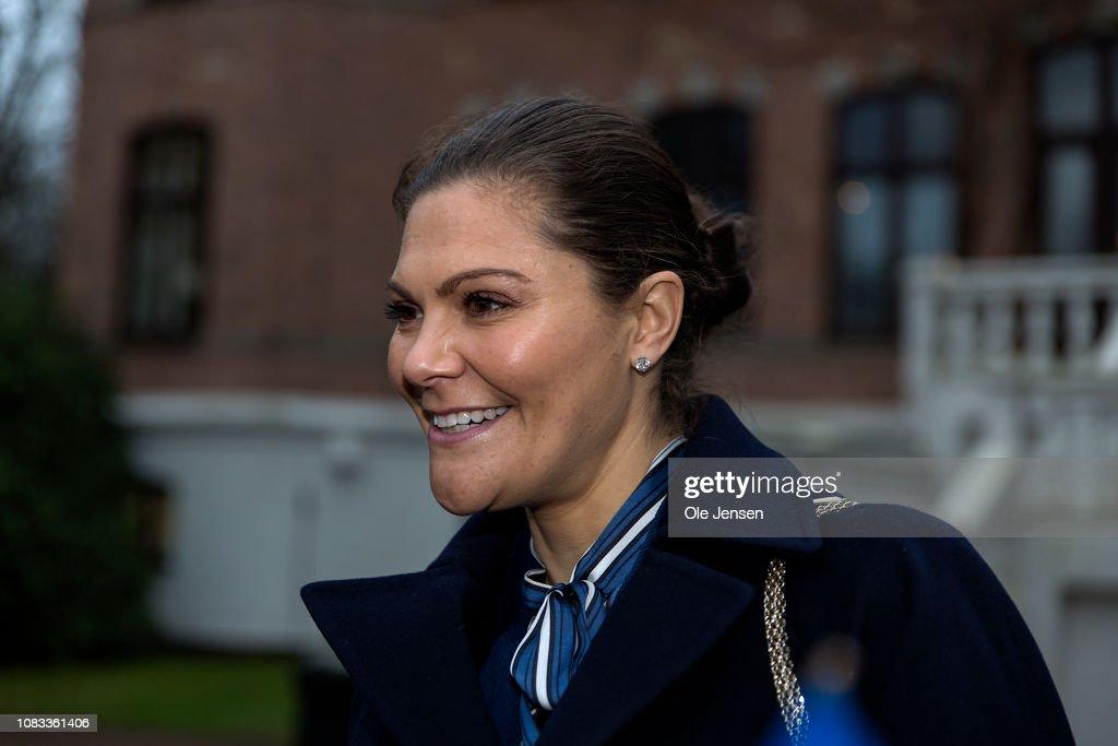 Crown Princess Victoria of Sweden Visits Helsingborg : News Photo