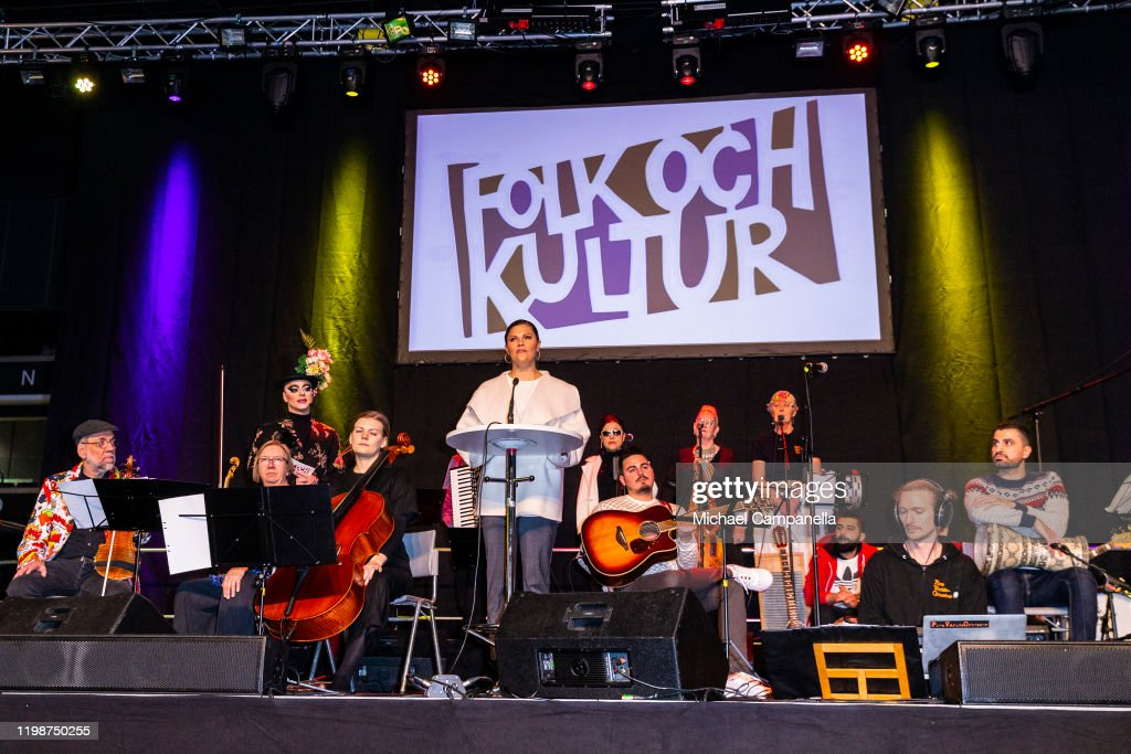 Crown Princess Victoria Of Sweden Attends Folk and Culture 2020 : Foto jornalística