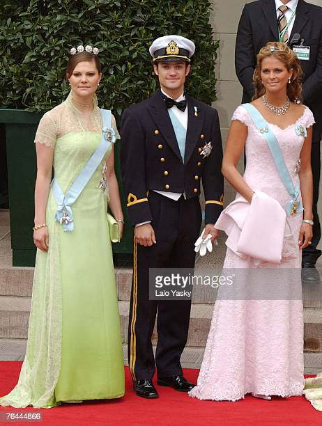 Crown Princess Victoria of Sweden her brother Carl Phillip and sister Princess Madeleine