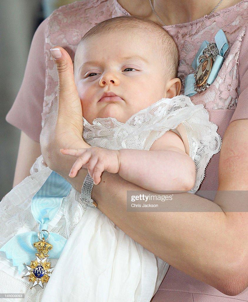 Christening of Princess Estelle of Sweden : News Photo