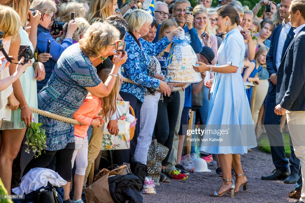 Crown Princess Victoria of Sweden 40th Birthday Celebrations in Solliden : News Photo