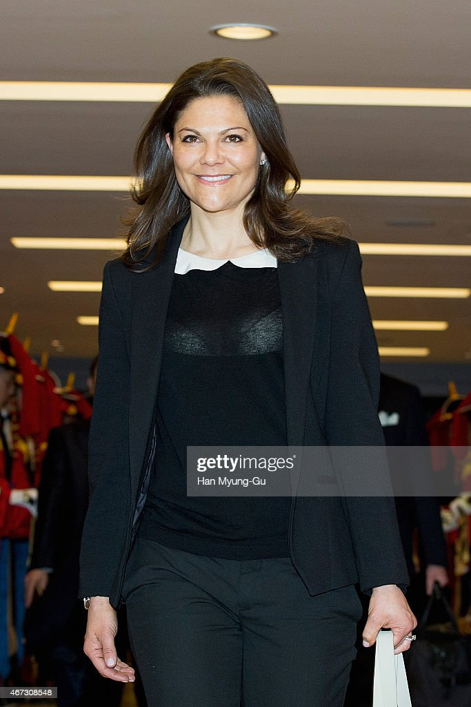 Crown Princess of Sweden Victoria Visits South Korea - Day 1 : News Photo