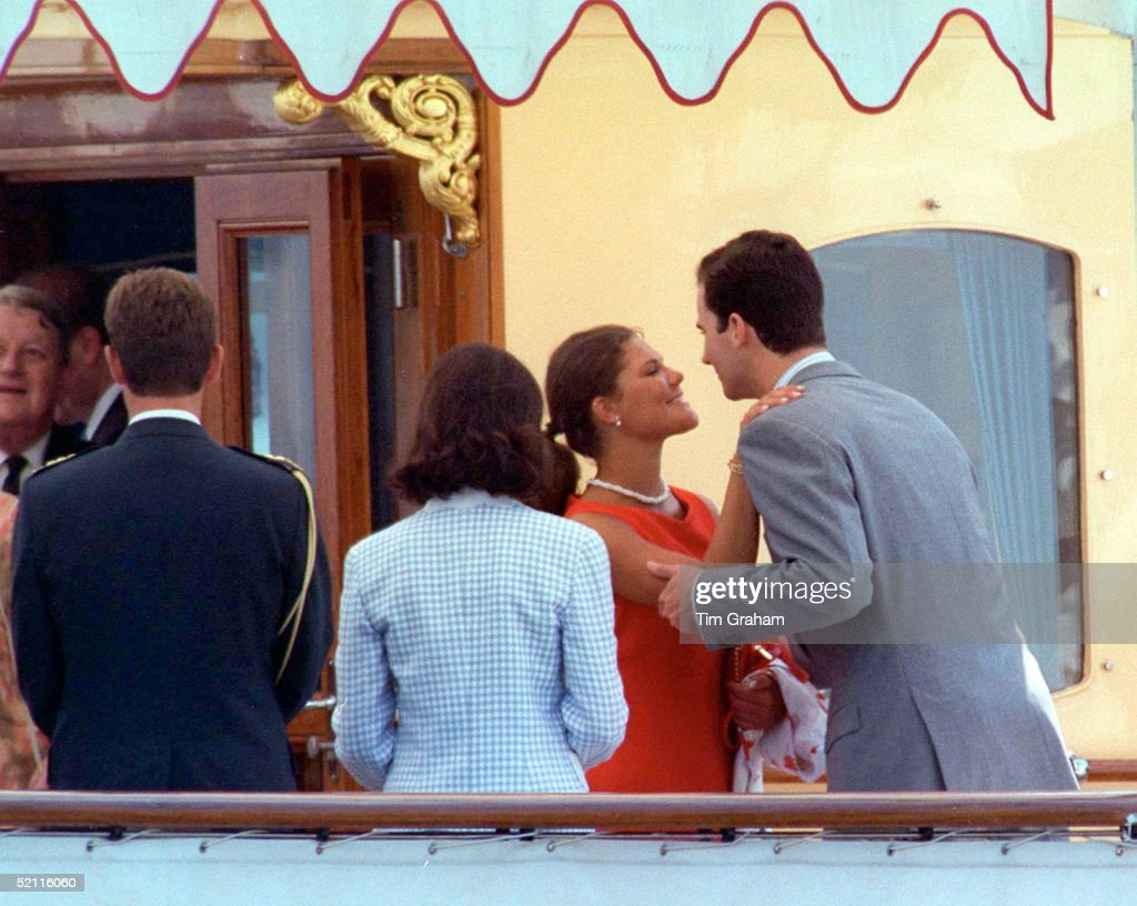 Princess Victoria And Prince Felipe : News Photo