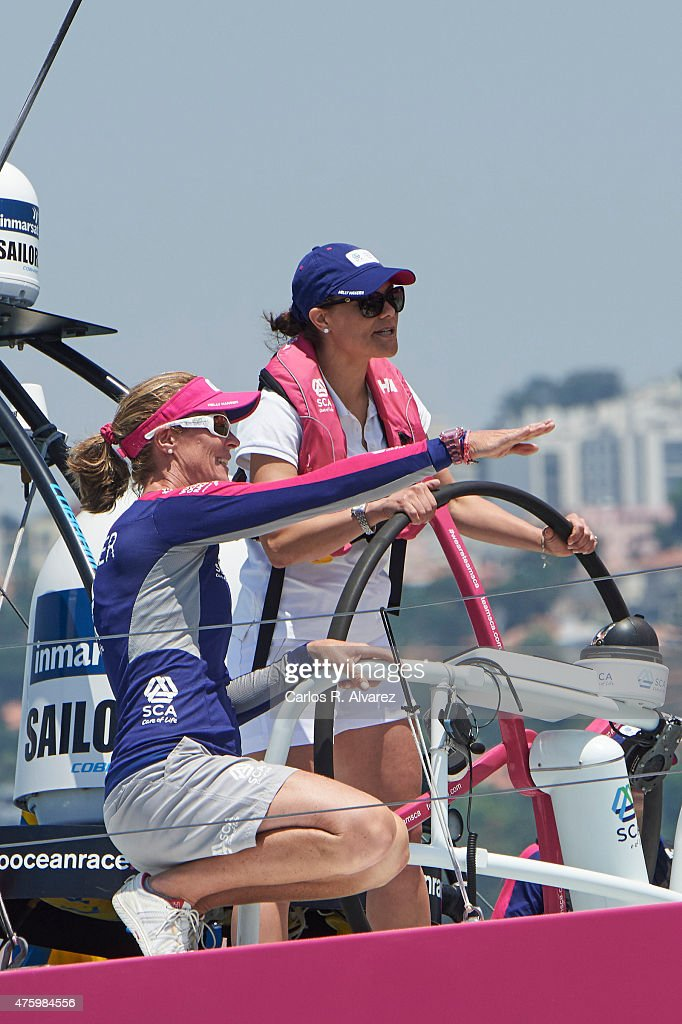 Victoria of Sweden Attends Volvo Ocean Race in Portugal - Day 2 : News Photo