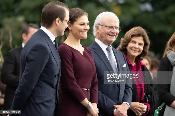 Crown Princess Victoria of Sweden, Prince Daniel of Sweden, King Carl XVI Gustaf of Sweden and Queen Silvia of Sweden attend a ceremony at the Parc...