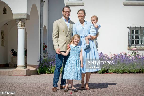 Crown Princess Victoria of Sweden, Prince Daniel of Sweden, Princess Estelle of Sweden and Prince Oscar of Sweden is seen meeting the people gathered...