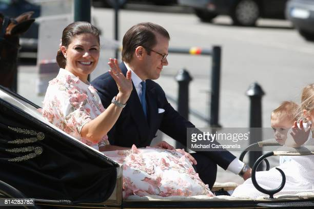 Crown Princess Victoria of Sweden Prince Oscar of Sweden and Prince Daniel of Sweden are seen being escorted from the Royal Palace to the Royal...