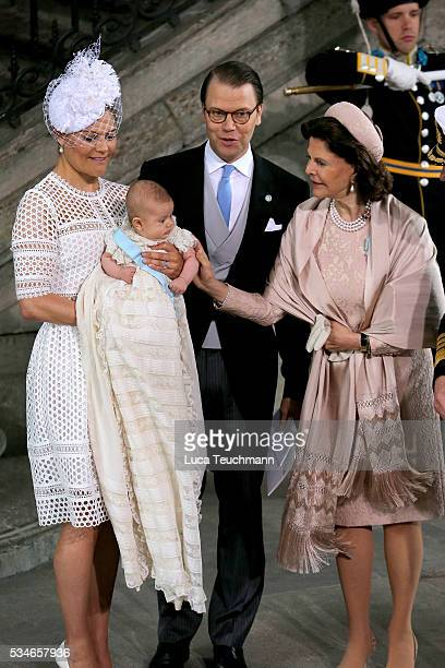 Crown Princess Victoria of Sweden Prince Oscar of Sweden Prince Daniel of Sweden Queen Silvia Of Sweden and King Carl Gustaf of Sweden are seen at...