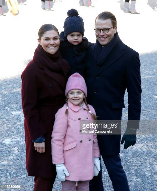Crown Princess Victoria of Sweden, Prince Oscar of Sweden, Princess Estelle of Sweden and Prince Daniel of Sweden attend the Crown Princess' Name Day...