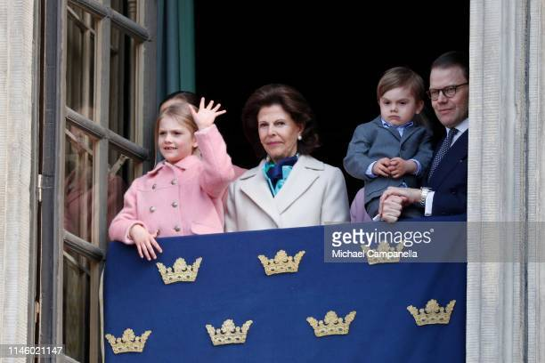 Crown Princess Victoria of Sweden, Princess Estelle, Duchess of Ostergotland, Queen Silvia of Sweden, Prince Oscar, Duke of Skane and Prince Daniel,...