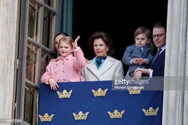 Crown Princess Victoria of Sweden Princess Estelle Duchess of Ostergotland Queen Silvia of Sweden Prince Oscar Duke of Skane and Prince Daniel Duke...