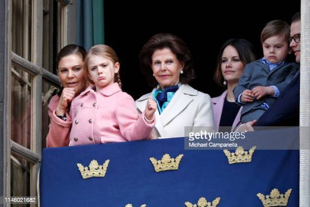 Crown Princess Victoria of Sweden Princess Estelle Duchess of Ostergotland Queen Silvia of Sweden Princess Sofia Duchess of Varmland Prince Oscar...