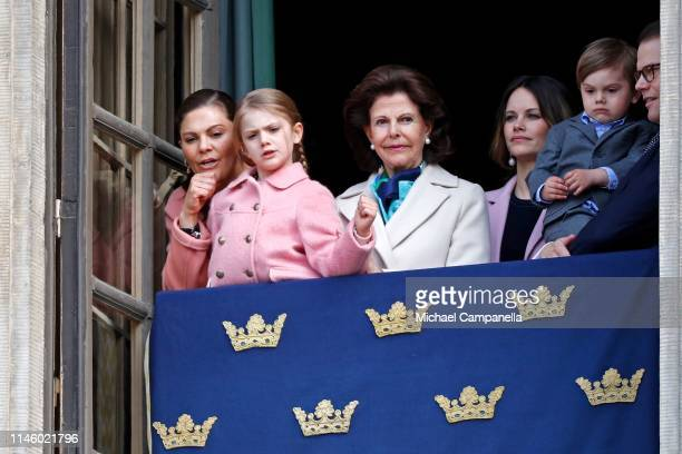 Crown Princess Victoria of Sweden Princess Estelle Duchess of Ostergotland Queen Silvia of Sweden Princess Sofia Duchess of Varmland Prince Oscar...