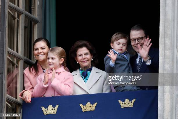 Crown Princess Victoria of Sweden Princess Estelle Duchess of Ostergotland Queen Silvia of Sweden Prince Oscar Duke of Skane and Prince Daniel Duke...